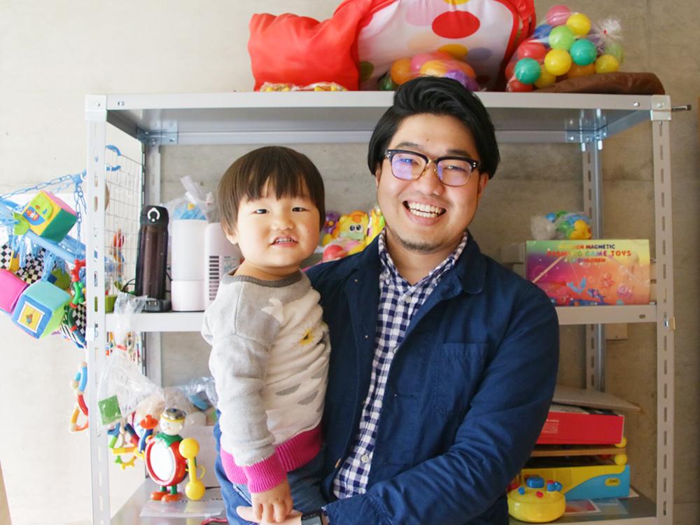 トイサブの志田さんとお子さん